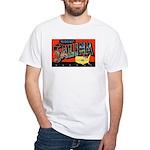 Salina Kansas Greetings (Front) White T-Shirt