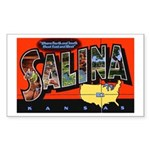 Salina Kansas Greetings Rectangle Sticker