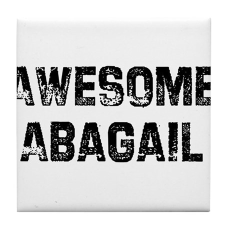 Awesome Abagail Tile Coaster