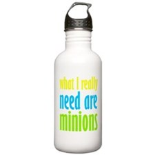 I Need Minions Water Bottle