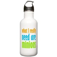I Need Minions Water Bottle