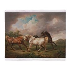 The Meeting of the Horses Throw Blanket