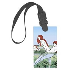 Art Nouveau: Bathing Nymphs Luggage Tag