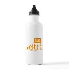 Evolution is following me Water Bottle