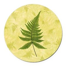 Fern Round Car Magnet