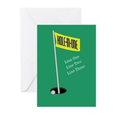 Golf Hole in One Greeting Cards (Pk of 20)