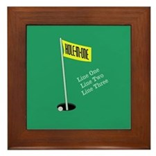 Golf Hole in One Framed Tile