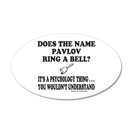 DOES THE NAME PAVLOV RING A BELL? 35x21 Oval Wall