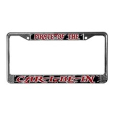 Pirate of the CAR-I-BE-IN License Plate Frame