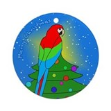 Tree Topper GW Macaw Christmas Ornament