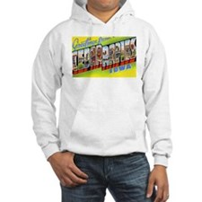 Cedar Rapids Iowa Greetings (Front) Hoodie