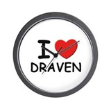 I love Draven Wall Clock