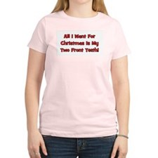 All I Want For Christmas Women's Pink T-Shirt