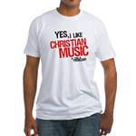 """I Like Christian Music"" Fitted T-shirt"