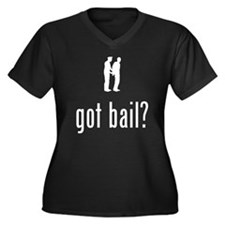 Criminal Women's Plus Size V-Neck Dark T-Shirt