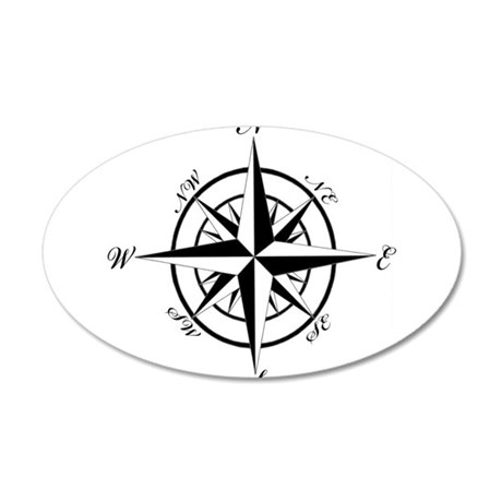 Vintage Compass Wall Decal