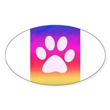 Sail Screen Rainbow Paw Rug Decal