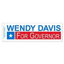 Wendy Davis Governor Democrat Bumper Sticker
