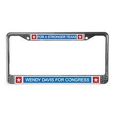 Wendy Davis Governor Democrat License Plate Frame