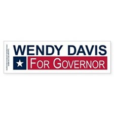 Wendy Davis Governor Texas Bumper Sticker
