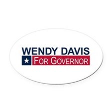 Wendy Davis Governor Texas Oval Car Magnet