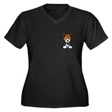 JRT Jack Russell Terrier Women's Plus Size V-Neck