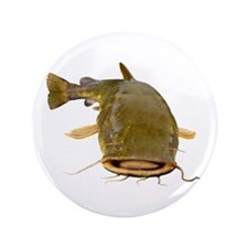 "Fat Flathead catfish 3.5"" Button (100 pack)"