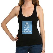 Keep Clam and Make Chowder Racerback Tank Top