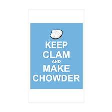 Keep Clam and Make Chowder Decal