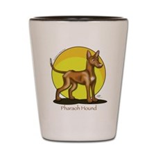 Pharaoh Hound Illustration Shot Glass