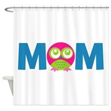 Owl Mom Shower Curtain