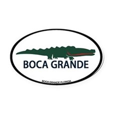 Ponte Vedra - Alligator Design. Oval Car Magnet