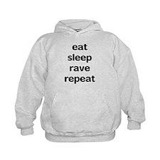 eat sleep rave. Hoodie
