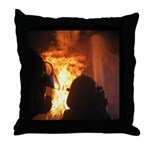 Firefighter Flashover Throw Pillow