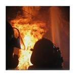 Firefighter Flashover Tile Coaster