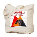 Dachshund Trouble Tote Bag