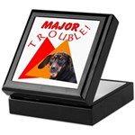 Dachshund Trouble Keepsake Box