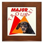 Dachshund Trouble Framed Tile