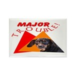 Dachshund Trouble Rectangle Magnet