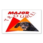 Dachshund Trouble Rectangle Sticker