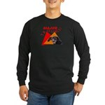 Dachshund Trouble Long Sleeve Dark T-Shirt