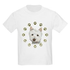 West Highland White and Paws Art T-Shirt