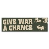 Give War a Chance! Bumper Car Sticker