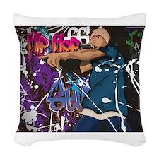 Hip Hop Singer. Hip Hop Star. Woven Throw Pillow