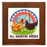 All American Breeds Framed Tile