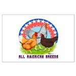 All American Breeds Large Poster