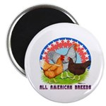 All American Breeds Magnet