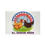 All American Breeds Rectangle Magnet