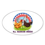 All American Breeds Oval Sticker