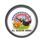 All American Breeds Wall Clock